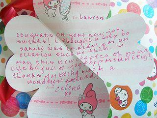 Celena's Letter