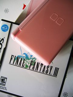 Pink DS Lite & Final Fantasy III