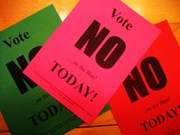 Vote No Fliers